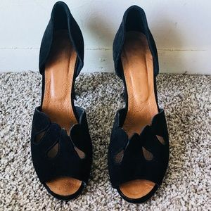 Chie Mihara Black Suede Sandals Size 39